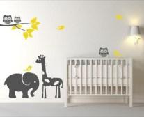 Unique baby boy nursery room with animal design 19