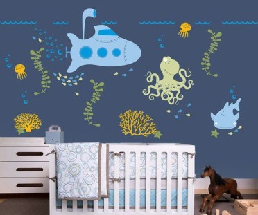 Unique baby boy nursery room with animal design 20