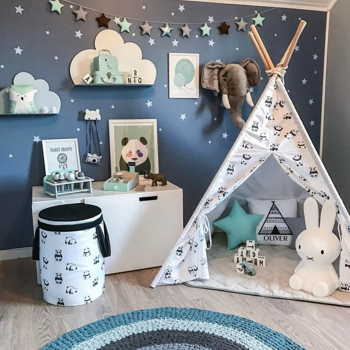 Unique baby boy nursery room with animal design 22