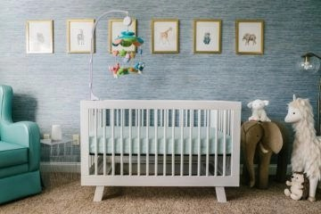 Unique baby boy nursery room with animal design 24