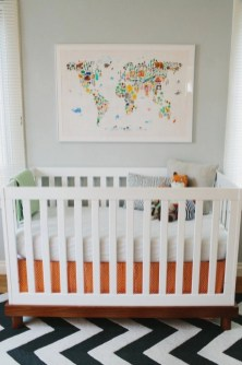 Unique baby boy nursery room with animal design 34