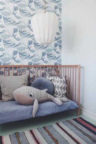 Unique baby boy nursery room with animal design 36