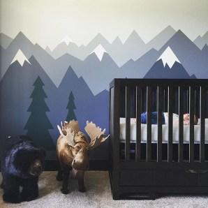 Unique baby boy nursery room with animal design 38