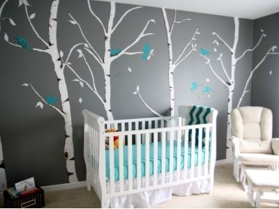Unique baby boy nursery room with animal design 43
