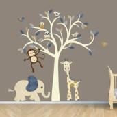 Unique baby boy nursery room with animal design 44