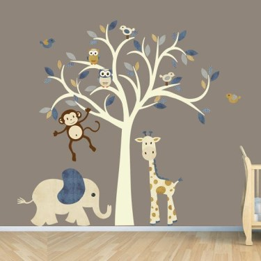 Unique baby boy nursery room with animal design 44