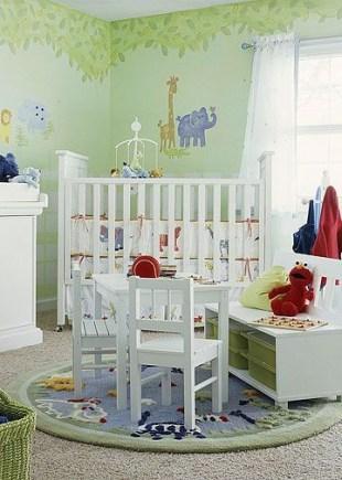 Unique baby boy nursery room with animal design 52