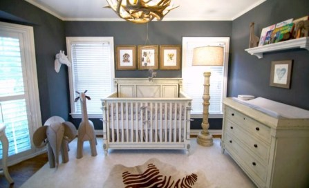 Unique baby boy nursery room with animal design 56