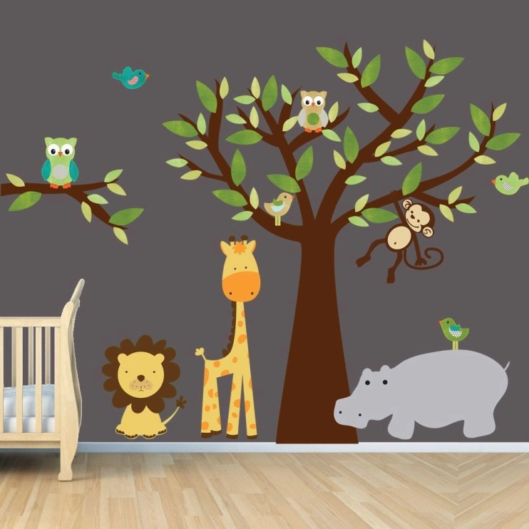 Unique baby boy nursery room with animal design 57