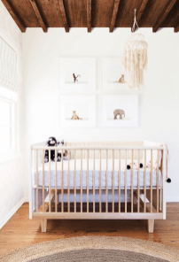 Unique baby boy nursery room with animal design 62