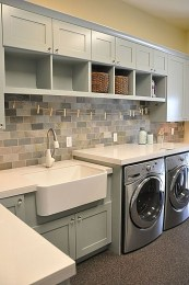 Beautiful and functional laundry room design ideas to try 13