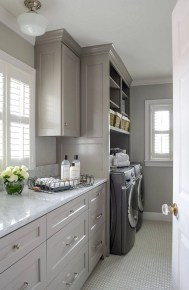 Beautiful and functional laundry room design ideas to try 47