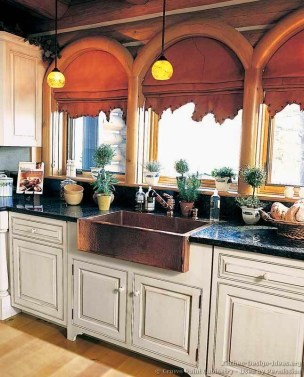 Top farmhouse sink designs for your lovable kitchen 17