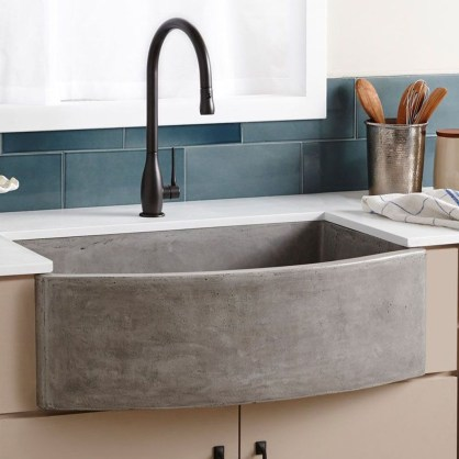 Top farmhouse sink designs for your lovable kitchen 43