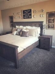 Awesome rustic bedroom furniture ideas to get the farmhouse charm 14