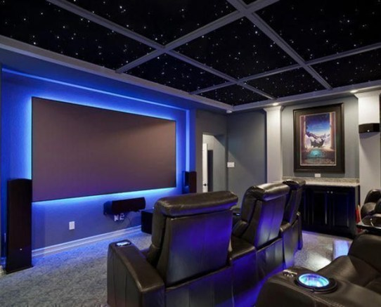Basement home theater design ideas to enjoy your movie time with family and friends 10