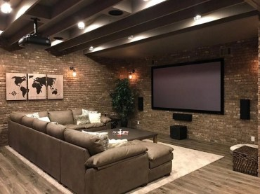 Basement home theater design ideas to enjoy your movie time with family and friends 17