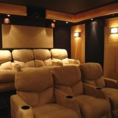 Basement home theater design ideas to enjoy your movie time with family and friends 24