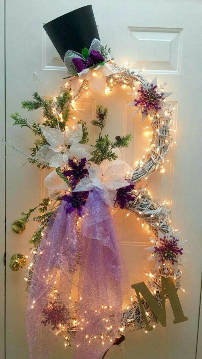 Beautiful diy christmas light decoration ideas 22