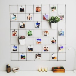 Best diy decor ideas for your home using wire wall grid 08