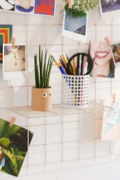 Best diy decor ideas for your home using wire wall grid 19