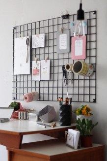 Best diy decor ideas for your home using wire wall grid 24