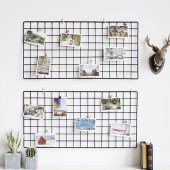 Best diy decor ideas for your home using wire wall grid 35