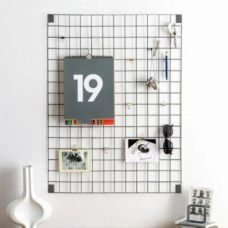 Best diy decor ideas for your home using wire wall grid 46