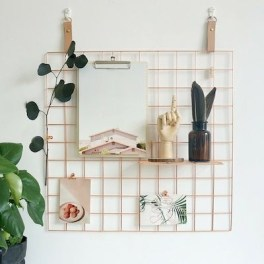 Best diy decor ideas for your home using wire wall grid 49