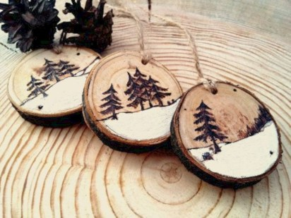 Creative diy rustic christmas decorations with wood 16
