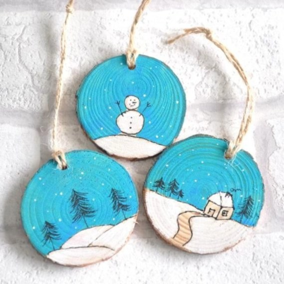 Creative diy rustic christmas decorations with wood 28