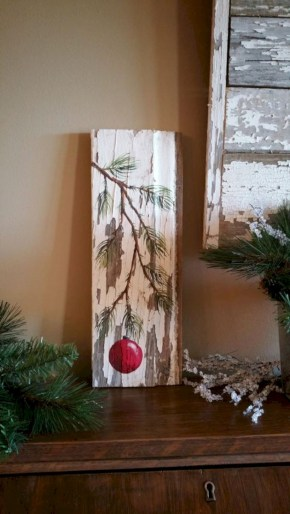 Creative diy rustic christmas decorations with wood 41