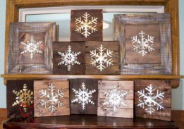 Creative diy rustic christmas decorations with wood 47