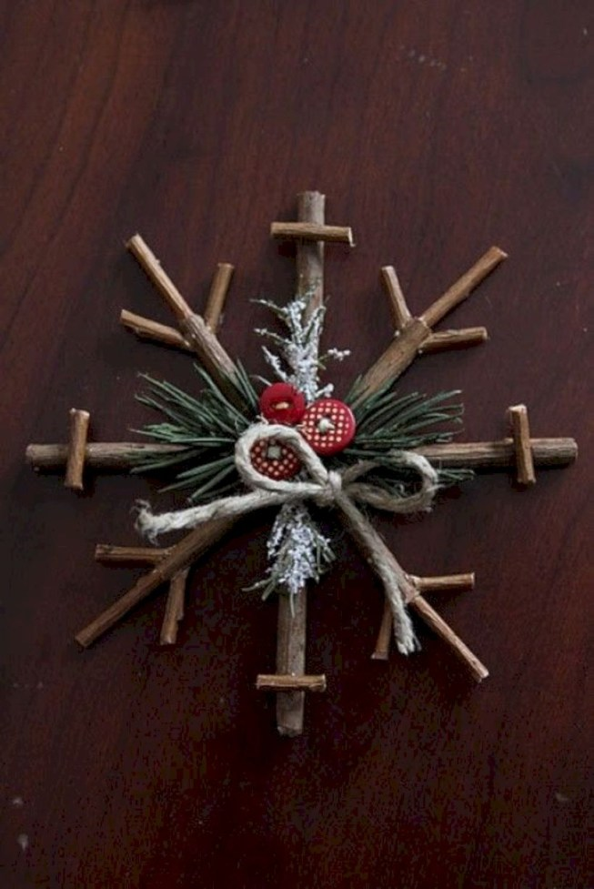 Creative diy rustic christmas decorations with wood 49