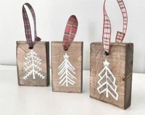Creative diy farmhouse ornaments for christmas 11