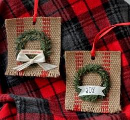 Creative diy farmhouse ornaments for christmas 13