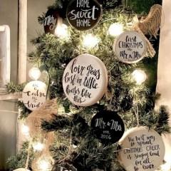 Creative diy farmhouse ornaments for christmas 24