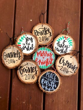 Creative diy farmhouse ornaments for christmas 45