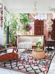 Enthralling bohemian style home decor ideas to inspire you 48