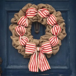 On a budget diy christmas wreath to deck out your door 11