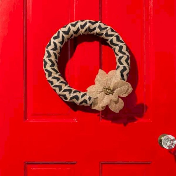 On a budget diy christmas wreath to deck out your door 30