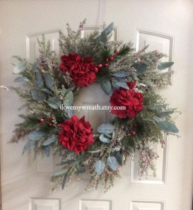 On a budget diy christmas wreath to deck out your door 46