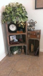 Diy wood crate shelves projects to calm the clutter effectively 03