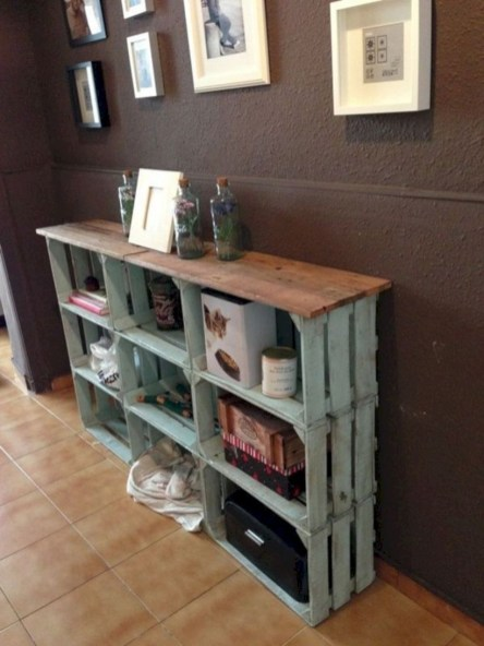 Diy wood crate shelves projects to calm the clutter effectively 18