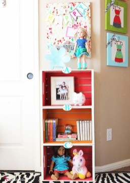 Diy wood crate shelves projects to calm the clutter effectively 26