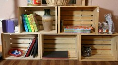 Diy wood crate shelves projects to calm the clutter effectively 31