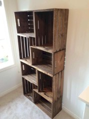 Diy wood crate shelves projects to calm the clutter effectively 33