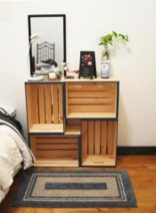 Diy wood crate shelves projects to calm the clutter effectively 35
