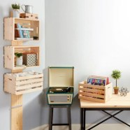 Diy wood crate shelves projects to calm the clutter effectively 40