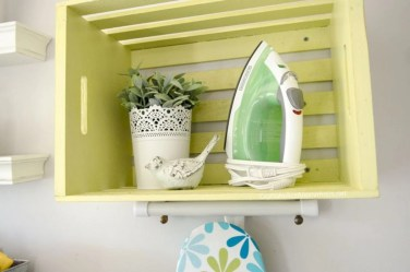 Diy wood crate shelves projects to calm the clutter effectively 41